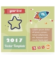 Flyer the star and the rocket for print or website vector image