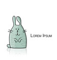 funny rabbit character for your design vector image vector image