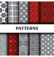 geometric figures pattern background vector image