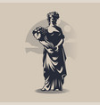 goddess demeter or ceres vector image vector image