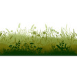 grass silhouette marsh and swamp plains with weed vector image vector image