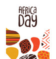 happy africa day card tribal african art vector image vector image