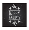 Happy holidays - typographic element vector image