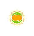 help sun logo icon design vector image vector image