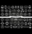large collection black white labels vector image vector image