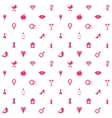 Love Symbols Seamless Pattern Background vector image vector image