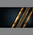 luxury dark navy background with golden lines vector image vector image
