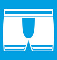 man boxer briefs icon white vector image vector image