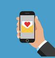 message in smartphone vector image vector image
