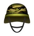 modern design army helmet mockup realistic style vector image