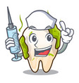 nurse cartoon unhealthy decayed teeth in mouth vector image