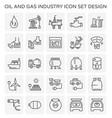 oil gas icon vector image vector image