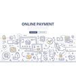 Online Payment Doodle Concept vector image