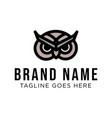 owl logo concept creative minimal design vector image