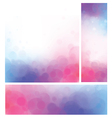 pink blue background vector image vector image