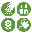 planting icon gardening tools icon vector image vector image