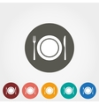 Plate fork and knife icons vector image vector image