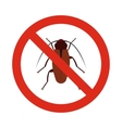 Prohibition sign bugs icon flat style vector image vector image
