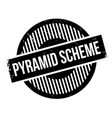pyramid scheme rubber stamp vector image