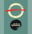 restaurant menu typographic vintage grunge design vector image vector image
