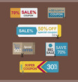 sale coupon card percent discount symbol vector image