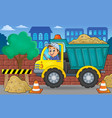 sand truck theme image 2 vector image vector image