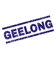 scratched textured geelong stamp seal vector image vector image
