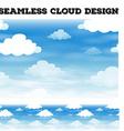 Seamless cloud on blue sky