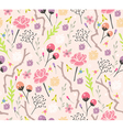 Seamless floral pattern background with flowers vector | Price: 1 Credit (USD $1)