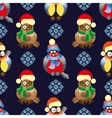 Seamless pattern with birds and in winter vector image vector image