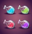 Set of bottle with liquid Magic Elixir vector image vector image