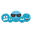 set of chat emoticons vector image vector image