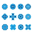 set of geometric shapes Round blue mosaic vector image vector image