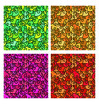 set of seamless patterns wave colorful background vector image vector image