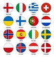 set round flags buttons - 2 vector image