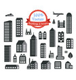 silhouette city building vector image