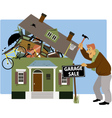 Time for a garage sale vector image