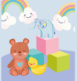 toys object for small kids to play cartoon duck vector image vector image