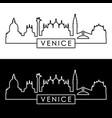 venice city skyline linear style vector image