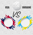 volleyball match background vector image