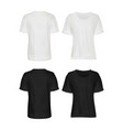 white and black t-shirt mockup set vector image