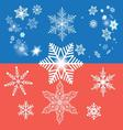winter graphic background with different snow vector image vector image