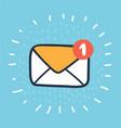 yellow envelope icon vector image