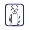 young man character icon vector image vector image