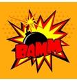 Comic Bomb vector image