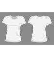 woman tshirt t-shirt templates vector image