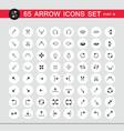 65 arrow sign icon set part 3 vector image