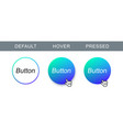 abstract button vector image vector image