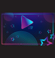 banner colorful play button neon vector image