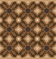 beautiful flower motifs on central java batik vector image vector image
